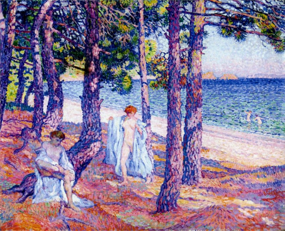 Female Bathers under the Pines at Cavaliere , 1905